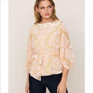 Yumi Kim Kiss and Tell velvet burnout sash blouse